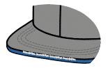 Flat lettering sandwhich visor