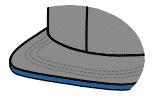Flat sandwich visor