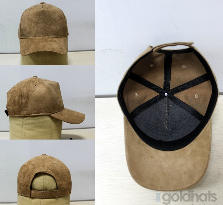 Represent clothing taupe suede 5 panels baseball cap