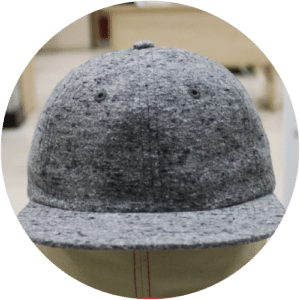 254df81a26c 6 panels unstructured woolen cap front