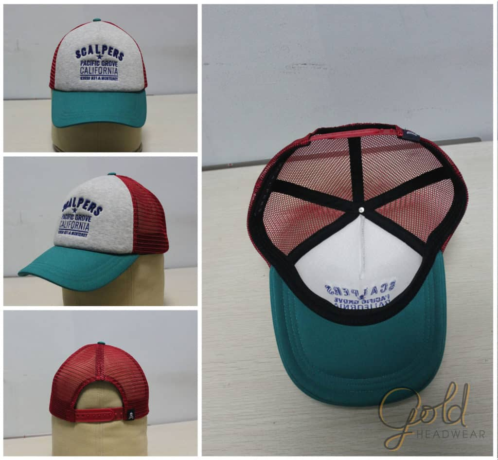 5 panels trucker baseball hats