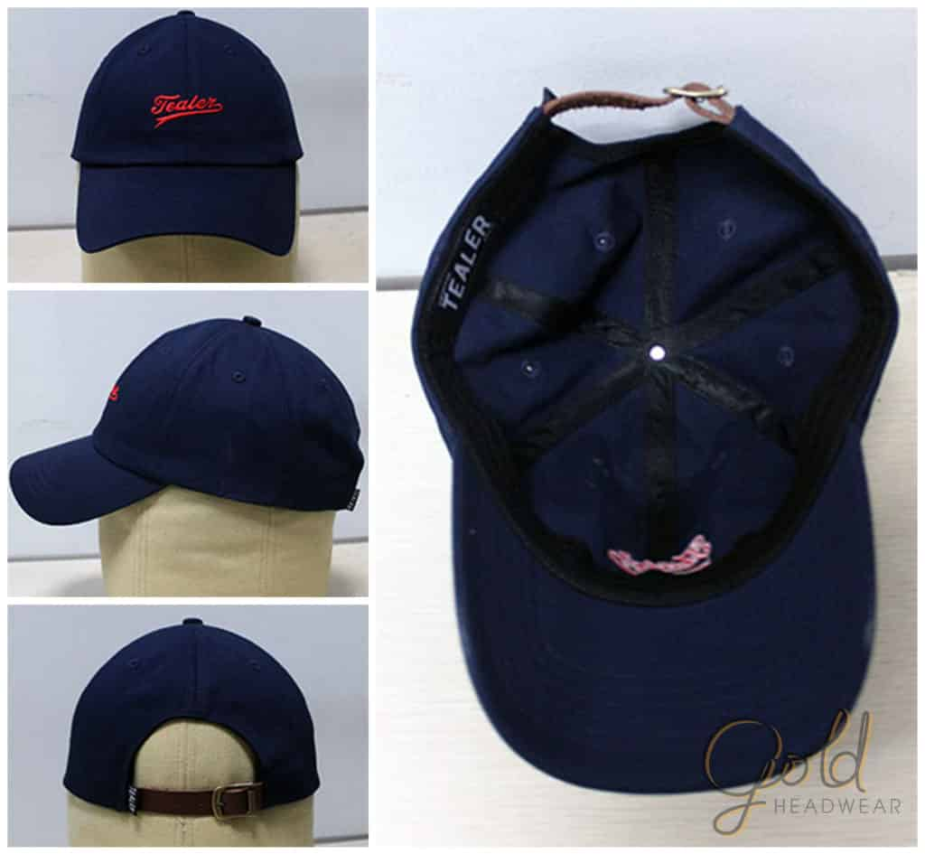 Custom made unstructured baseball caps