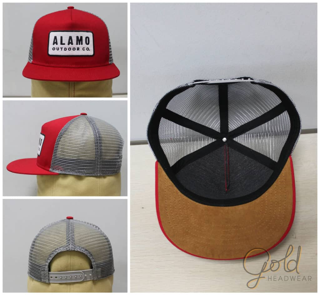 Trucker snapback with suede peak