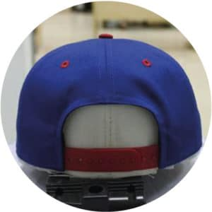 Bleu-red-and-green-snapback-5-panel-back