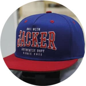 Blue-red-and-green-snapback-5-panel-side-panel