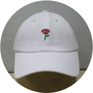White-rose-baseball-6-panel-Front