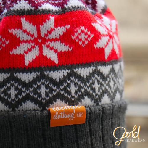 JACQUARD BEANIE-WOVEN LABEL